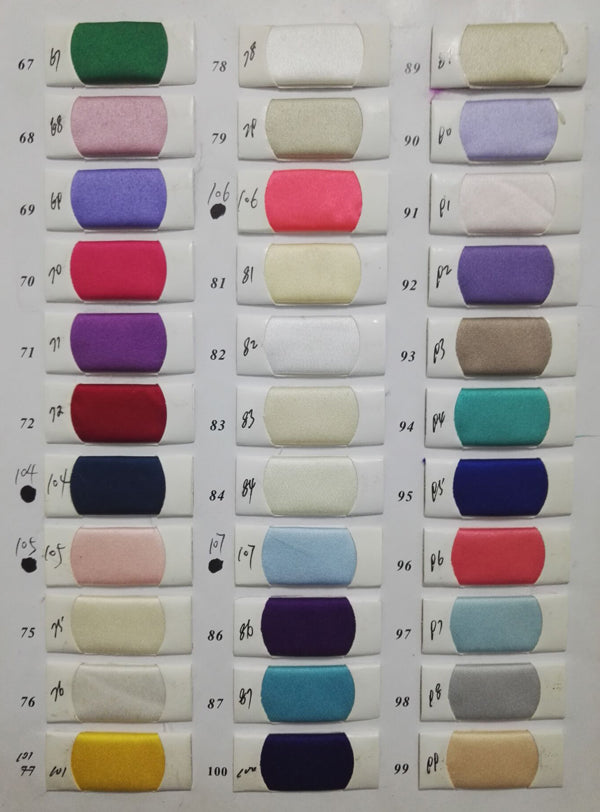 Satin color swatches for prom dresses, homecoming dresses | Promnova