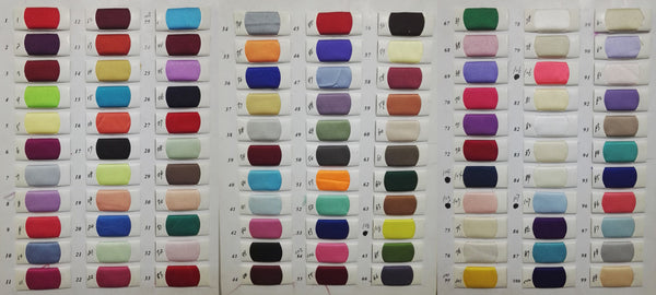 Satin color swatches for prom dresses, wedding dresses at www.promnova.com