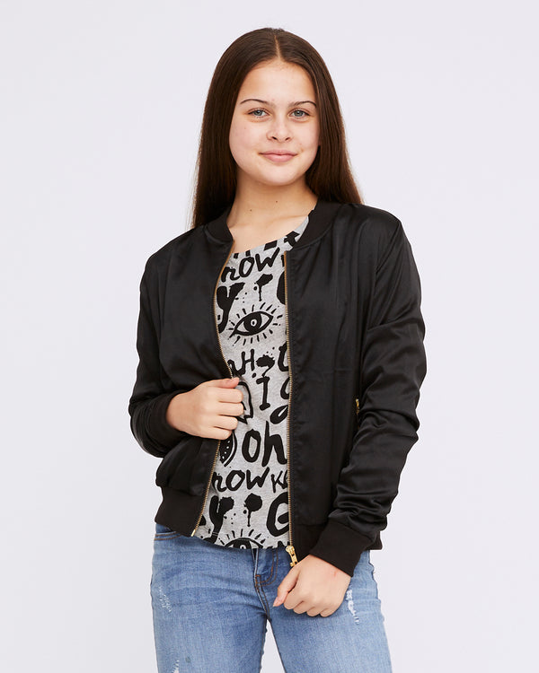 Faith Bomber - sparkly black