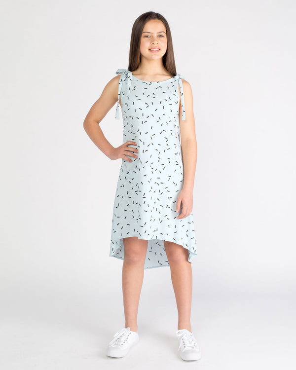 The Rita Dress - blue sprinkle
