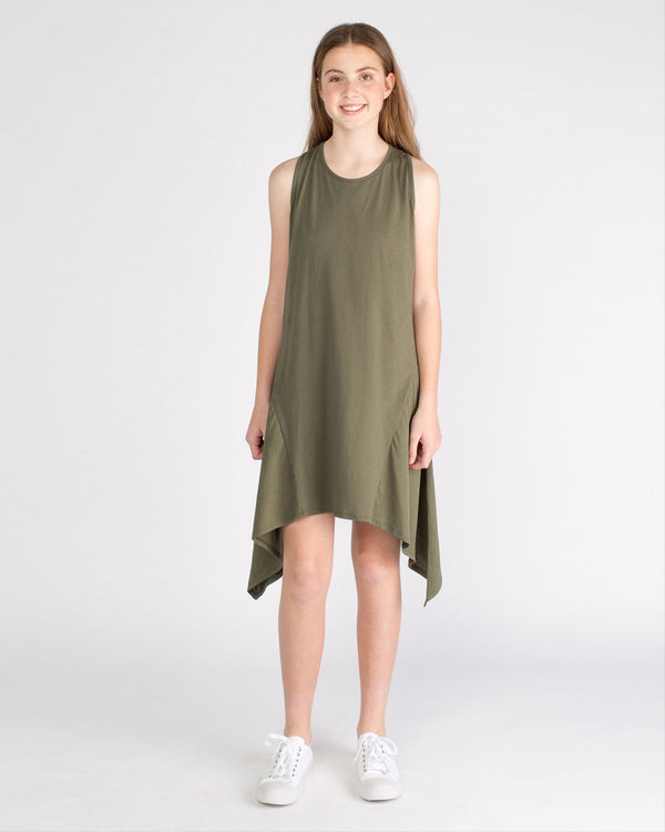 The Simone Dress - khaki