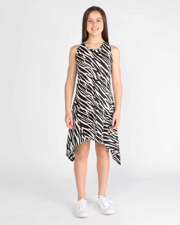 The Simone Dress - zebra