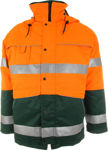 Warnschutz Parka Winter grün/orange