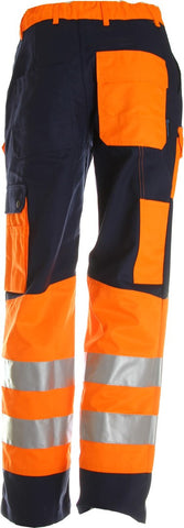 Warnschutz Bundhose blau/orange