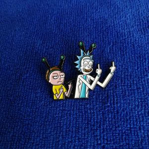 Rick and Morty Enamel Pin / Button Badge