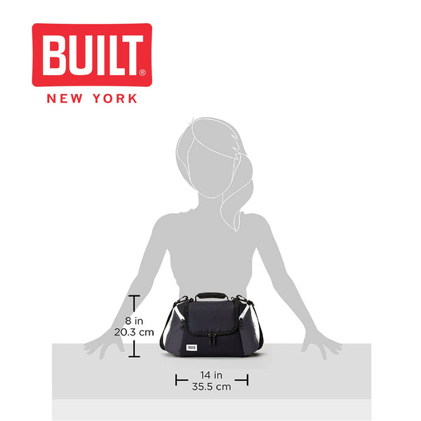 Built All Day Lunch Bag with Zip Closure and Removable Shoulder Strap