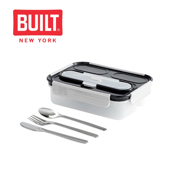 Built Professional 1 Litre Lunch Box with Cutlery