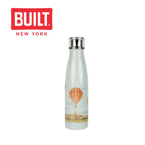 Built V&A 500ml Double Walled Stainless Steel Water Bottle, Hot Air Ballon