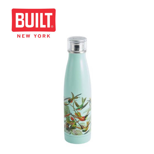 Built V&A 500ml Double Walled Stainless Steel Water Bottle, Hummingbird