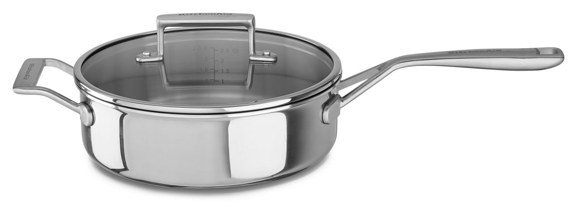Tri-Ply Stainless Steel 3.5-Quart Saute with Lid