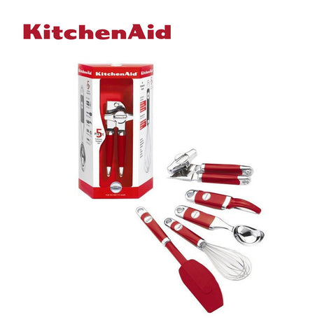 5pc Kitchen Utensils Set (Red)