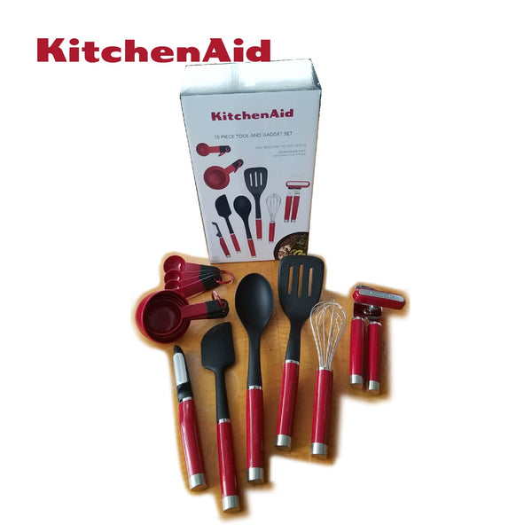 15pc Kitchen Tool and Gadget (Red)