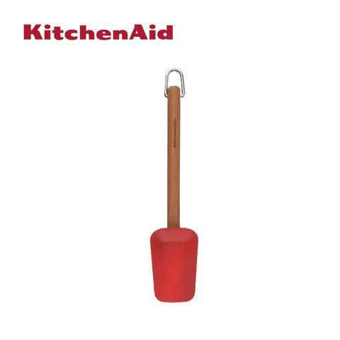 Cherry Wood Silicone Spoon Spatula (Red)
