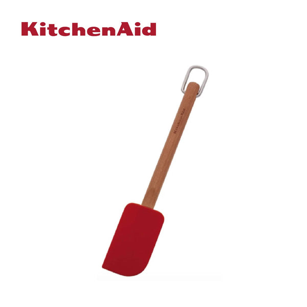 Cherry Wood Silicone Scraper Spatula (Red)