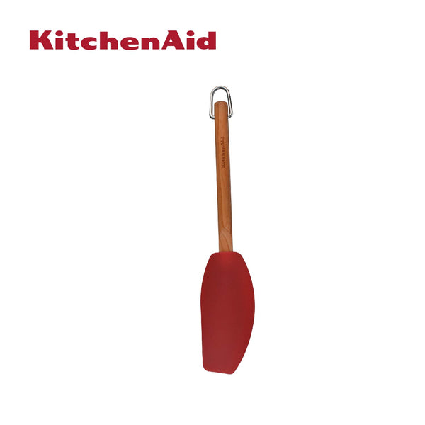 Cherry Wood Silicone Mixer Spatula (Red)