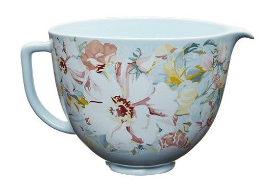 5 Quart White Gardenia Ceramic Bowl