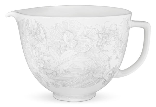 5 Quart Whispering Floral Ceramic Bowl