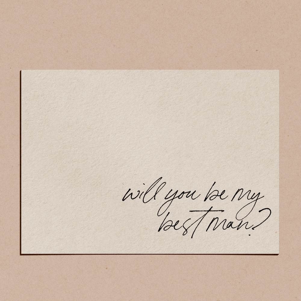 'Suit Up, Will You Be My Best Man?' | Proposal Card