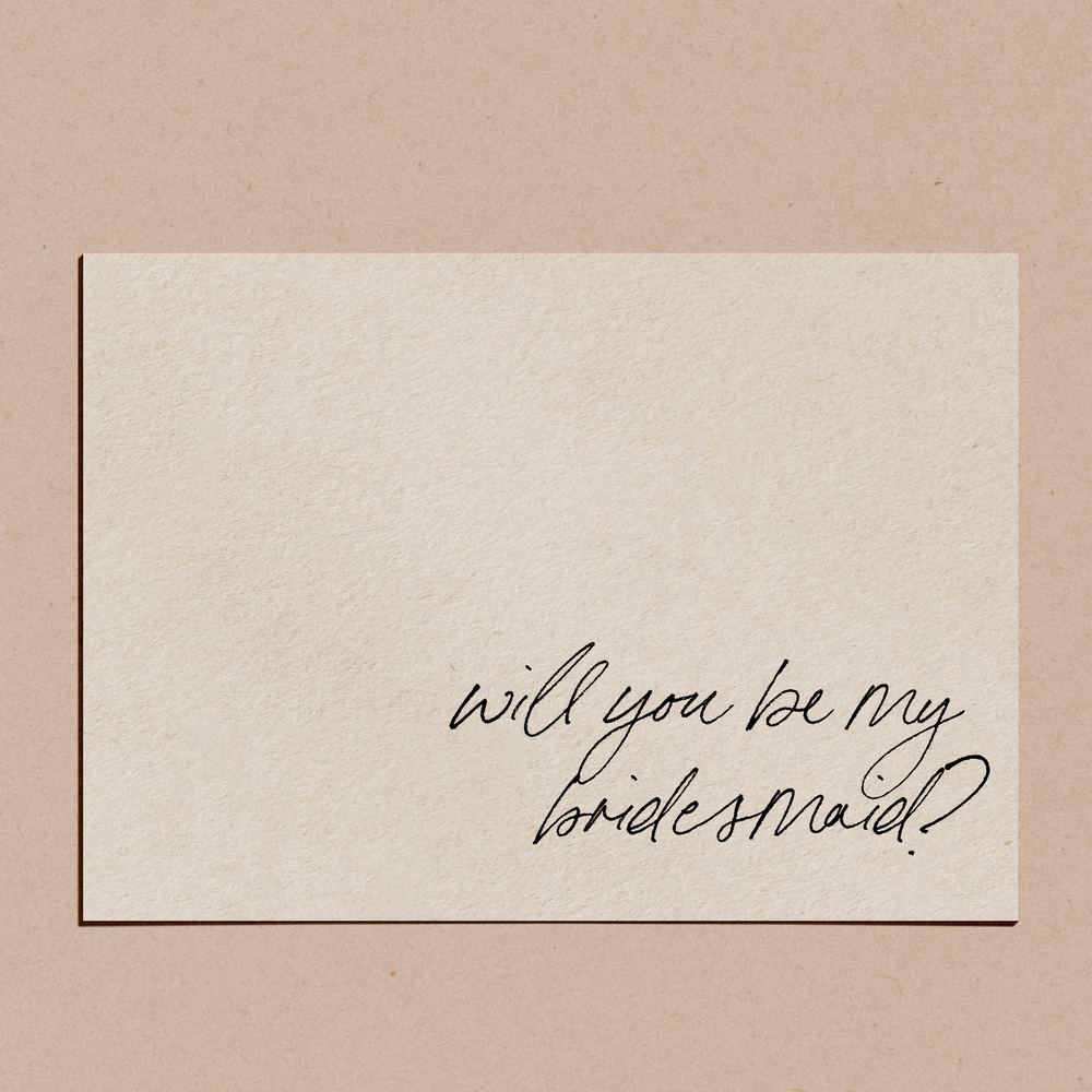'Will You Be My Bridesmaid?' | Proposal Card