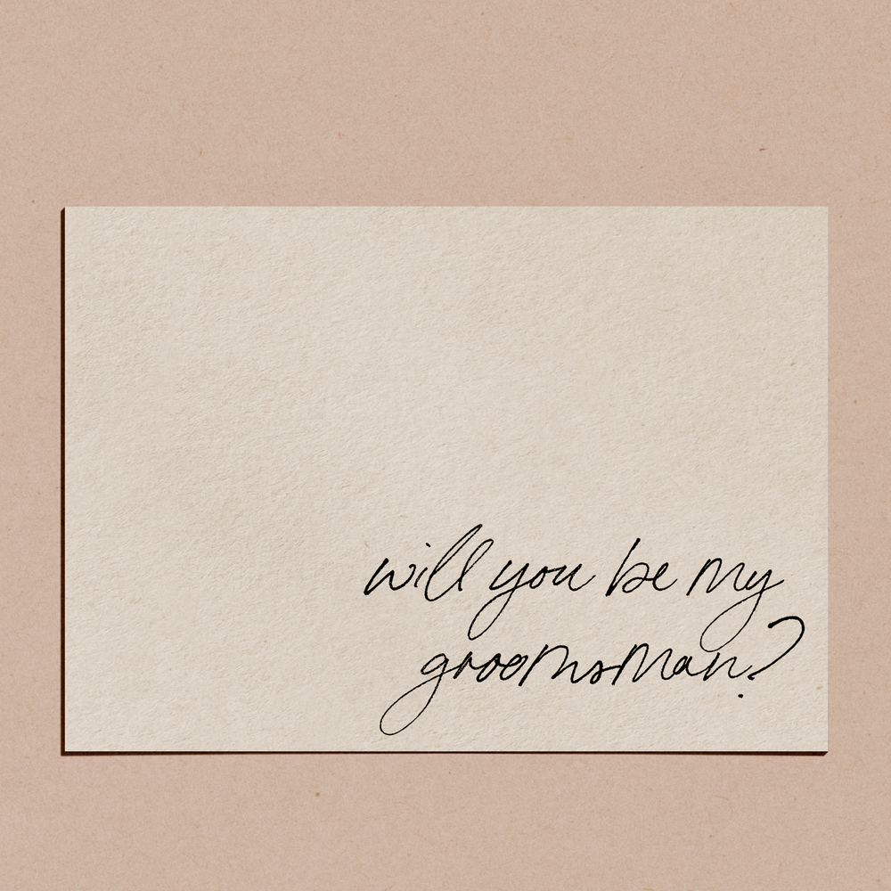 'Suit Up, Will You Be My Groomsman?' | Proposal Card