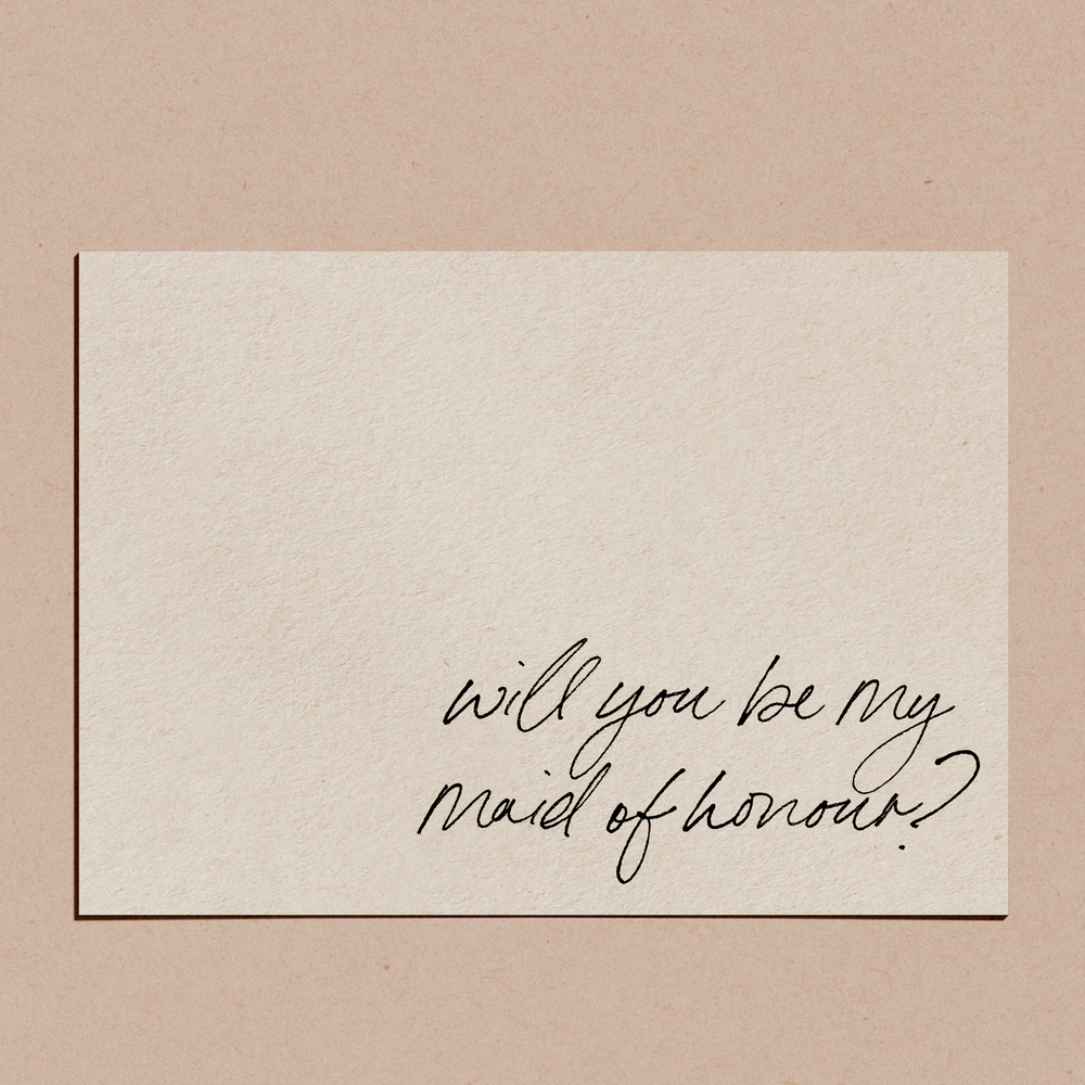 'Will You Be My Maid of Honour?' | Proposal Card