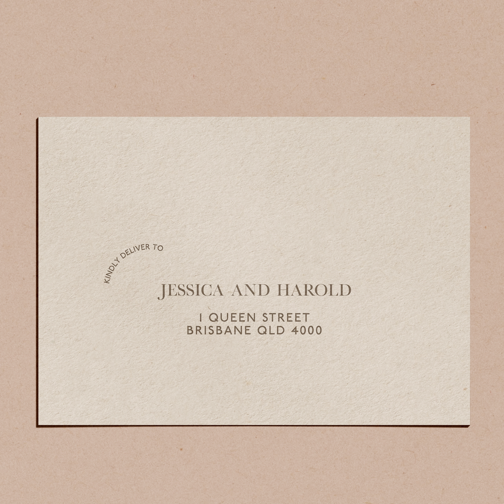 'Swept Away' | Envelope Printing