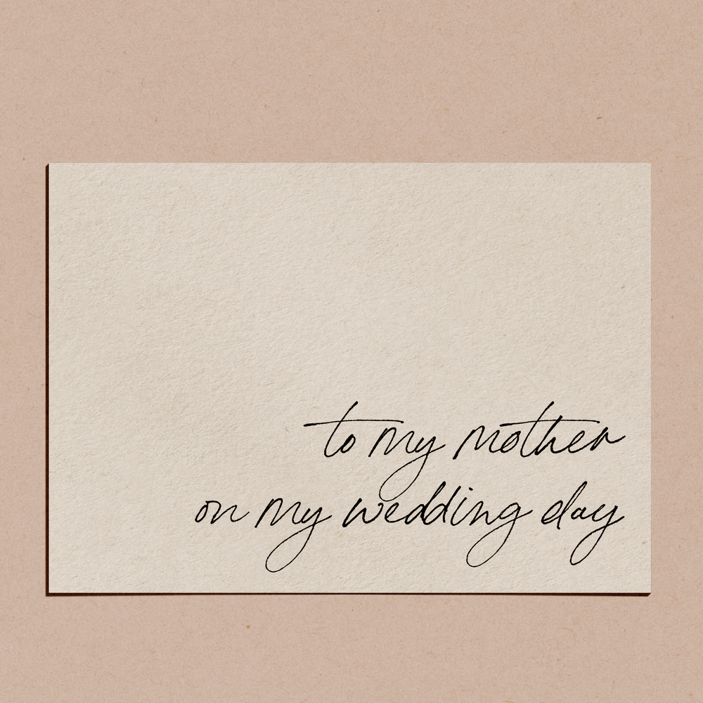 'To My Mother on My Wedding Day' | Card