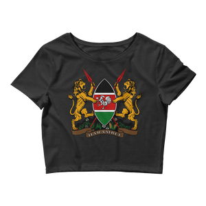 Kenya Women's Crop Tee (Black)
