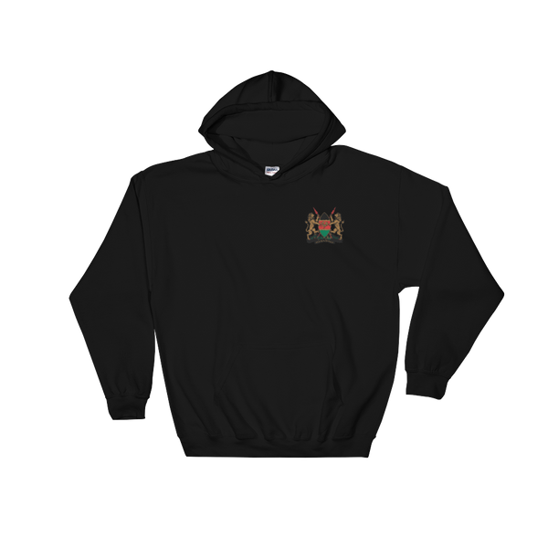 Kenya Coat of Arms Embroidered Hooded Sweatshirt