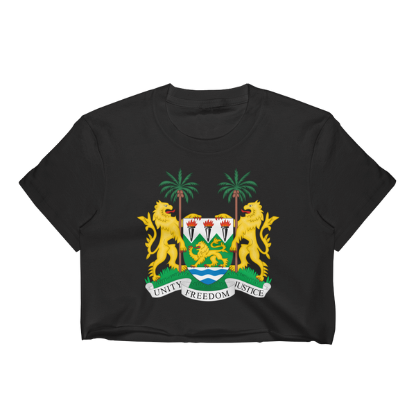Sierra Leone Women's Crop Top