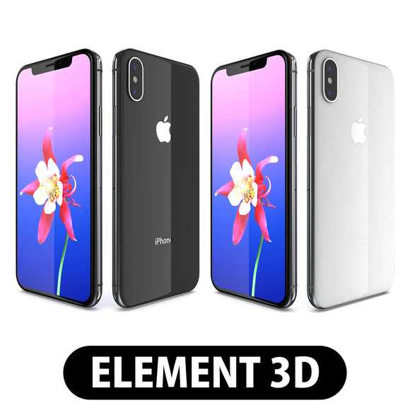 Element 3D V2.2 - Apple iPhone X All Colors