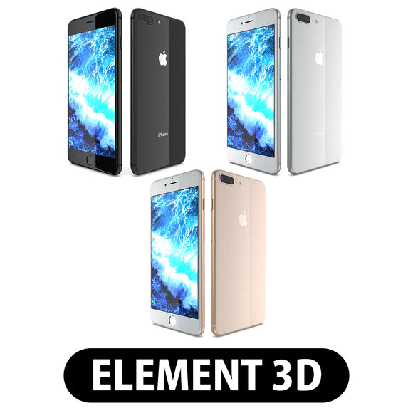 Element 3D V2.2 - Apple iPhone 8 Plus All Colors