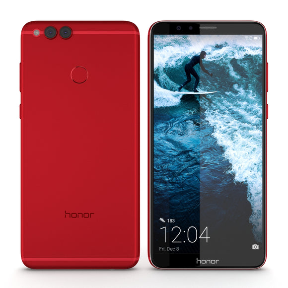 Huawei Honor 7X Red - 3D Model