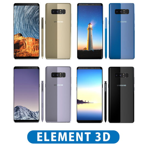 Samsung Galaxy Note 8 All Colors - Element 3D V2.2