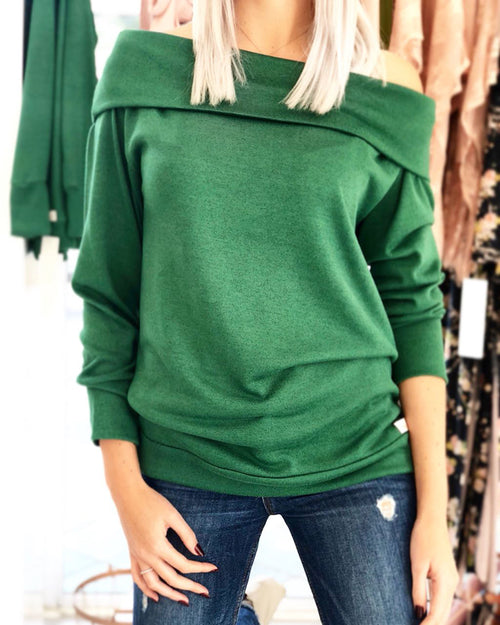 Green Popcorn Polo Neck
