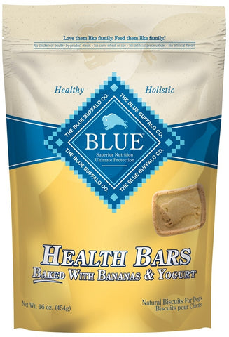 Blue Health Bars Baked With Banana and Yogurt Dog Treats