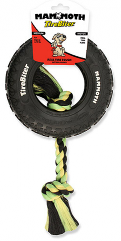 Mammoth TireBiter Tires with Rope Dog Toys
