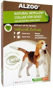 Alzoo Natural Repellent Flea and Tick Collar for Dogs