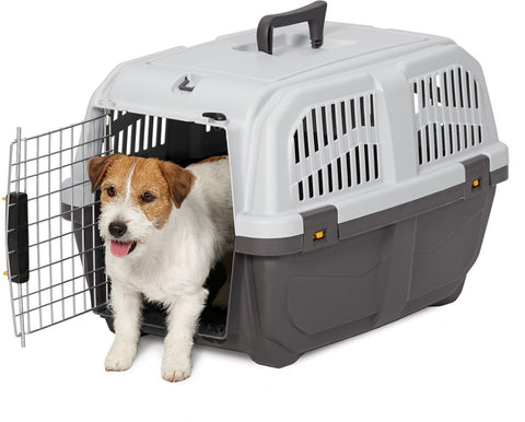 MidWest Skudo Gray Plastic Travel Pet Carrier