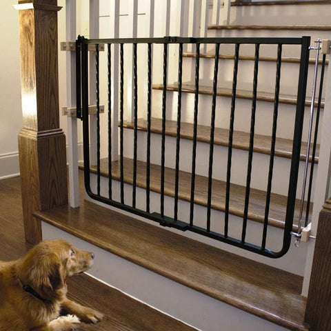 Cardinal Gates Wrought Iron Decor Hardware Mounted Pet Gate