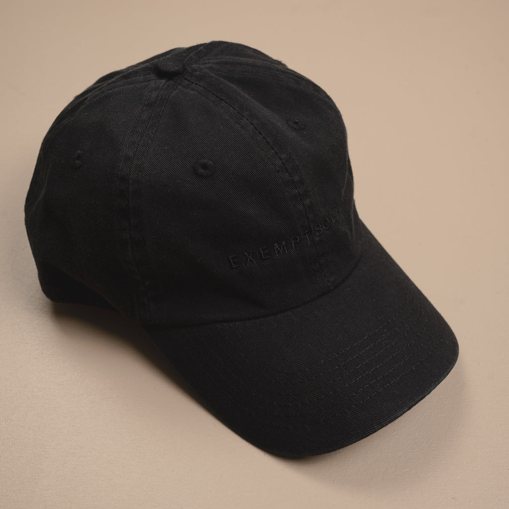 Exempt 90s Cap - Black / Black