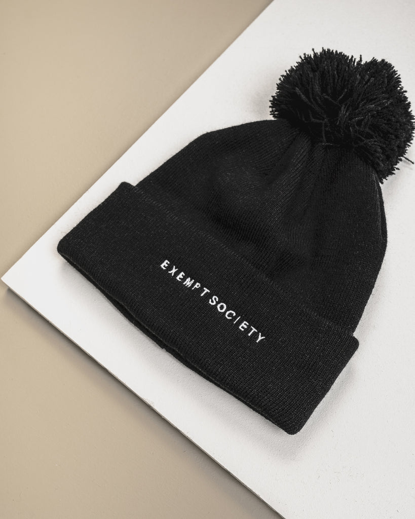 Exempt Beanie - Black / White