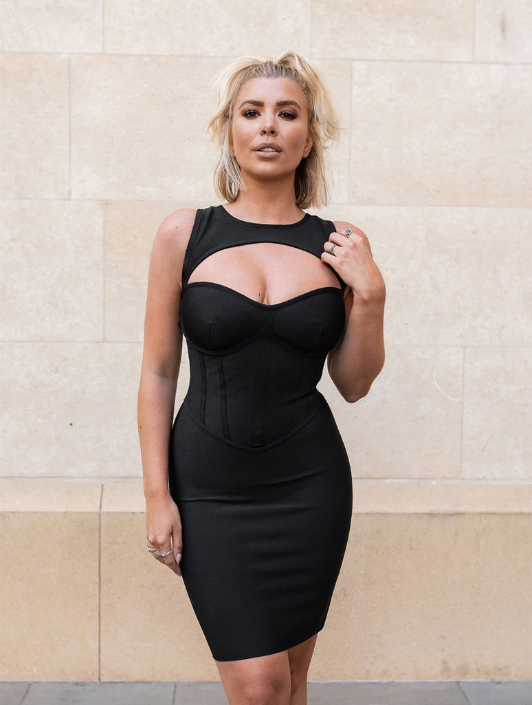 THE 'OLIVIA' CUT OUT BANDAGE DRESS