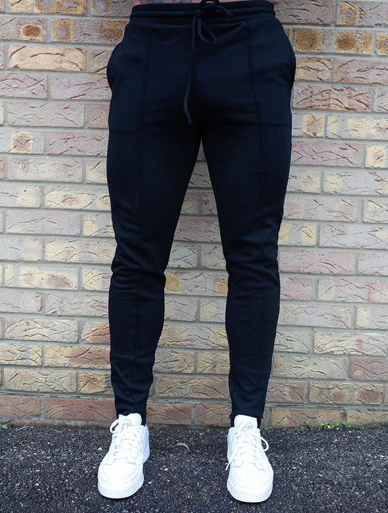 BLACK RAW EDGE PANT