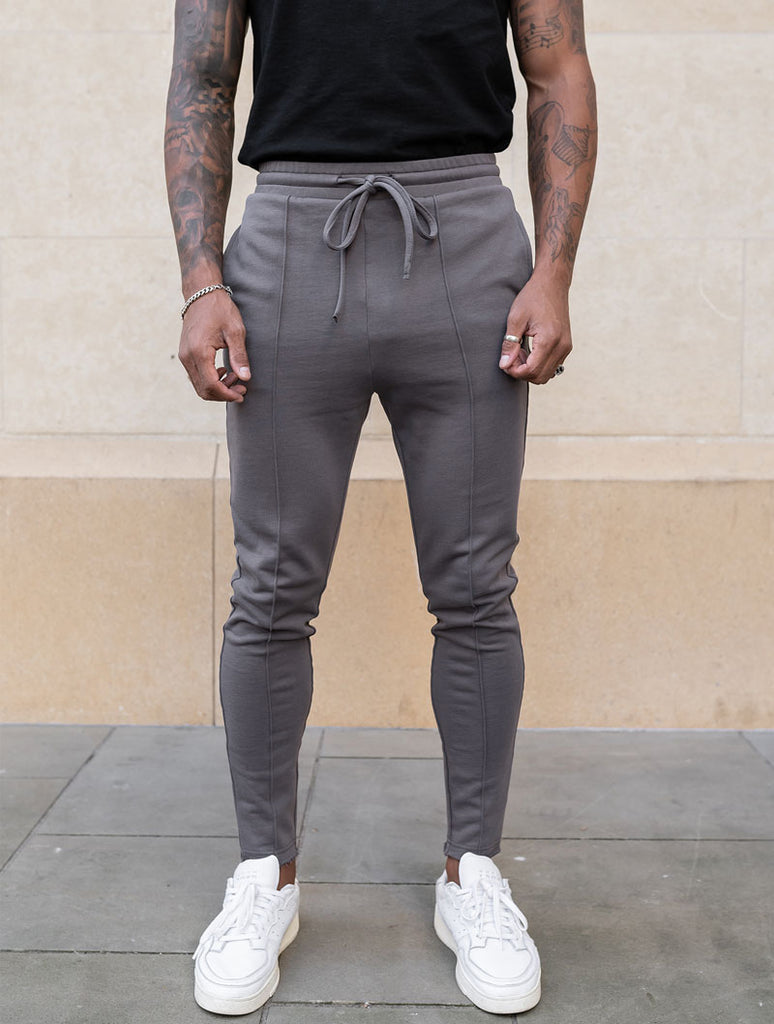 GREY RAW EDGE PANT