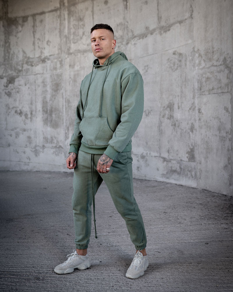 KHAKI HEAVYWEIGHT JOGGERS WITHOUT SEAM