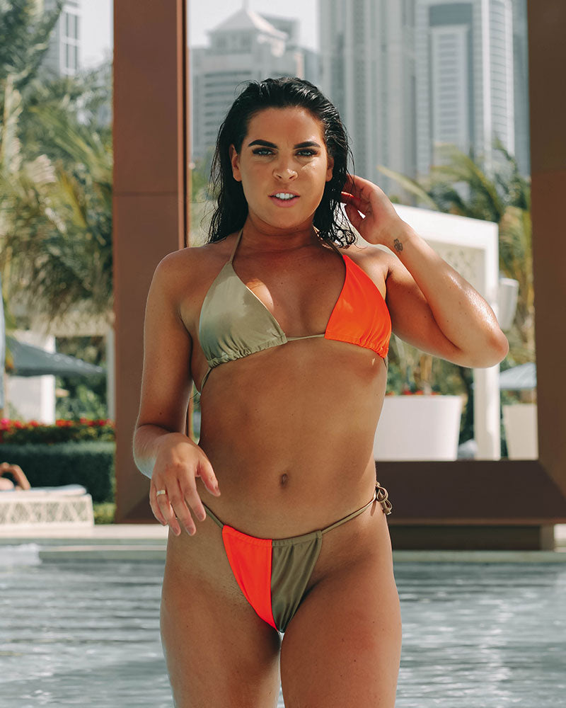 Gold/Orange Teeny Bikini - Bottoms
