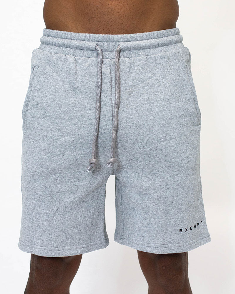 GREY BLACK PRINT SHORTS