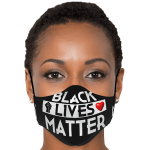 "Millionaire Vision ""Black Lives Matter"" Face Mask - Black/White"