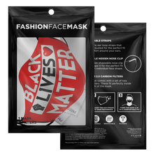 "Load image into Gallery viewer, Millionaire Vision ""Fist"" Face Mask - Red/Black"